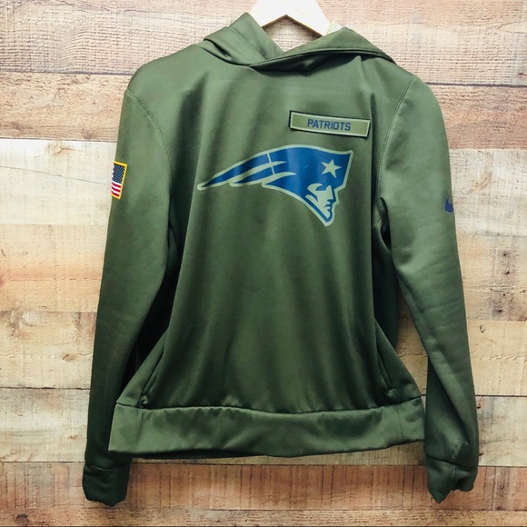 best service 22bf9 41daf New England Patriots Nike Hoodie - Military